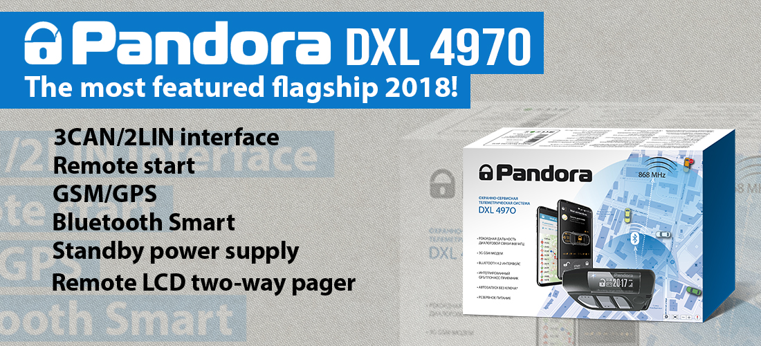Pandora DXL 4970 Car Alarm System